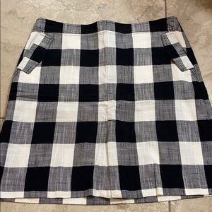 Talbots Buffalo plaid skirt